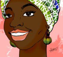 African Turban Sticker