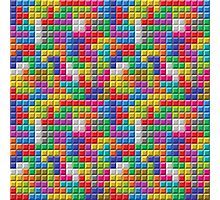 Seamless Color Block Pattern Photographic Print