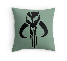 Mandalorian (black) Throw Pillow