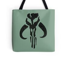 Mandalorian (black, distressed) Tote Bag