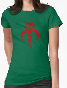 Mandalorian (red) Womens Fitted T-Shirt