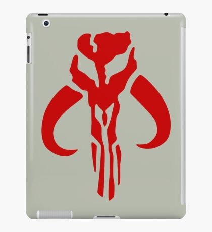 Mandalorian (red) iPad Case/Skin