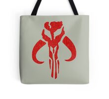 Mandalorian (red, distressed) Tote Bag