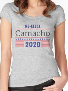 Re-Elect Camacho Stars and Stripes Women's Fitted Scoop T-Shirt