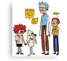 Rick Dialogue Canvas Print