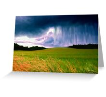 Storm Over Fields Greeting Card