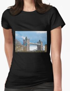 Tower Bridge London in Winter Womens Fitted T-Shirt