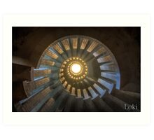 Abandoned Stairs Art Print
