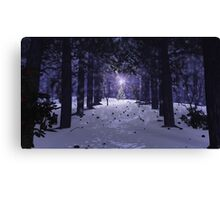 Christmas in the Pines Canvas Print