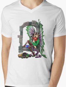 Knitting Fairy Mens V-Neck T-Shirt