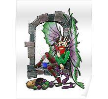 Knitting Fairy Poster