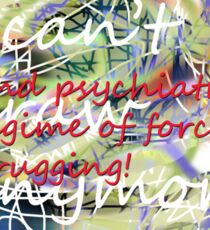 I can't draw anymore: end psychiatry's regime of forced drugging! Sticker
