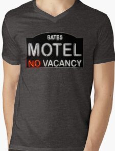 Bates Motel Sign Mens V-Neck T-Shirt