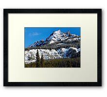 Snow Capped Pinnacles Framed Print