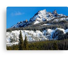 Snow Capped Pinnacles Canvas Print