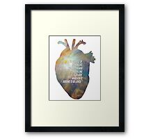 purpose of human life Framed Print