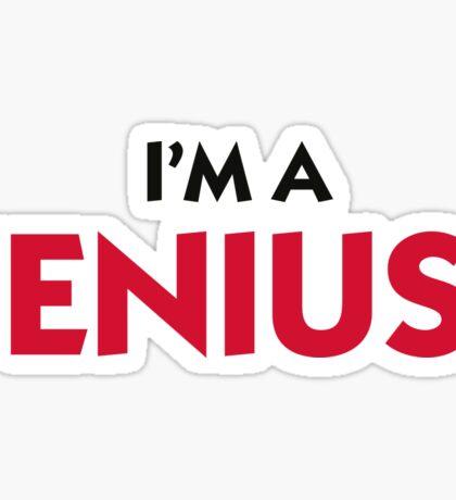 I m a genius! Sticker