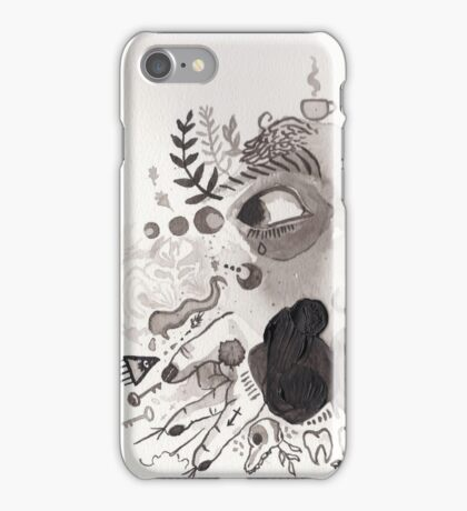 ink and acrylic iPhone Case/Skin
