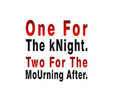 One Knight Two Mourning Photographic Print