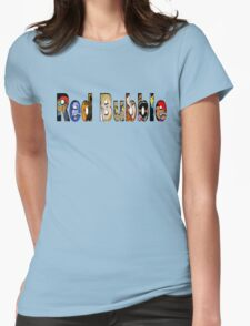 Red Bubble Collage Womens Fitted T-Shirt
