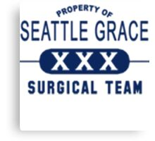 Property of Seattle Grace  Canvas Print