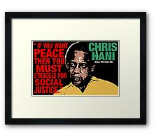 CHRIS HANI Framed Print