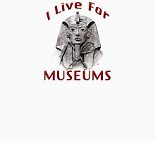 I Live For Museums Womens Fitted T-Shirt