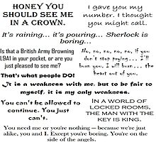 BBC Sherlock - Moriarty Quotes by A5-TheGlue