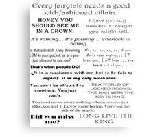 BBC Sherlock - Moriarty Quotes Metal Print