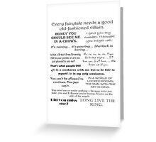 BBC Sherlock - Moriarty Quotes Greeting Card
