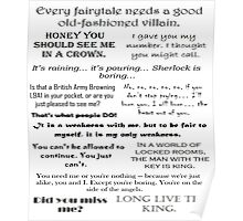 BBC Sherlock - Moriarty Quotes Poster