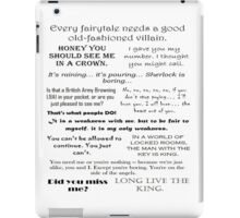 BBC Sherlock - Moriarty Quotes iPad Case/Skin