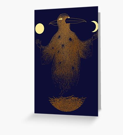 Crow Moon Shaman Greeting Card