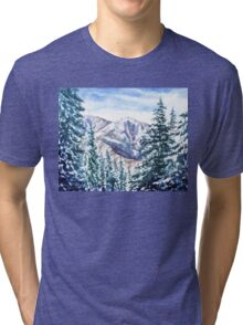 Winter In The Mountains  Tri-blend T-Shirt