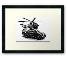 HM Coastguard Truck and Helicopter Framed Print