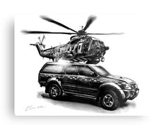 HM Coastguard Truck and Helicopter Metal Print