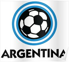 Football crest of Argentina Poster