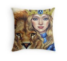 Leo Girl Throw Pillow