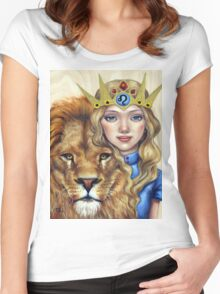 Leo Girl Women's Fitted Scoop T-Shirt