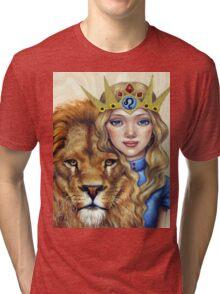 Leo Girl Tri-blend T-Shirt