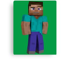 Minecraft Steve Canvas Print