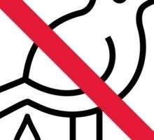 No Bird Droppings Sticker