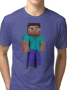 Minecraft Steve Tri-blend T-Shirt