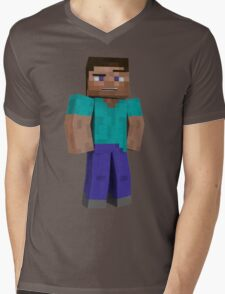 Minecraft Steve Mens V-Neck T-Shirt