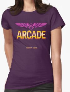 Arcade: Insert Coins Womens Fitted T-Shirt