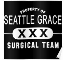 Property of Seattle Grace in White  Poster