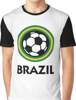 Football coat of arms of Brazil Graphic T-Shirt