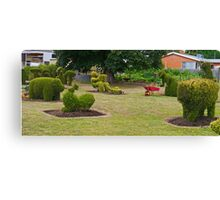 Topiary, Railton, Tasmania, Australia (panorama) Canvas Print