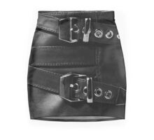 Black Leather Beauty Mini Skirt