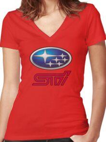 Subaru STI Women's Fitted V-Neck T-Shirt